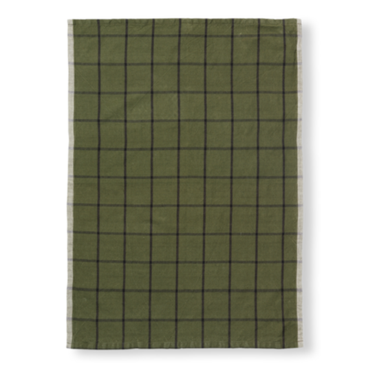Hale Tea Towel _ Green/ Black