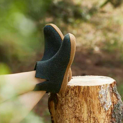 Forest Low Boot _ rubber honey sole