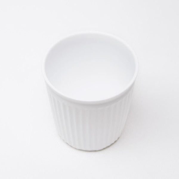 Porcelain Creased Espresso Cup _ Set of 4