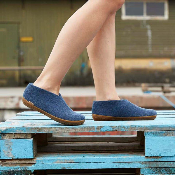 Denim Shoe _ rubber honey sole