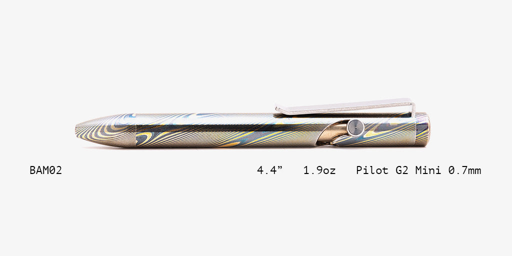 Full Mokume Gane Bolt Action Pens