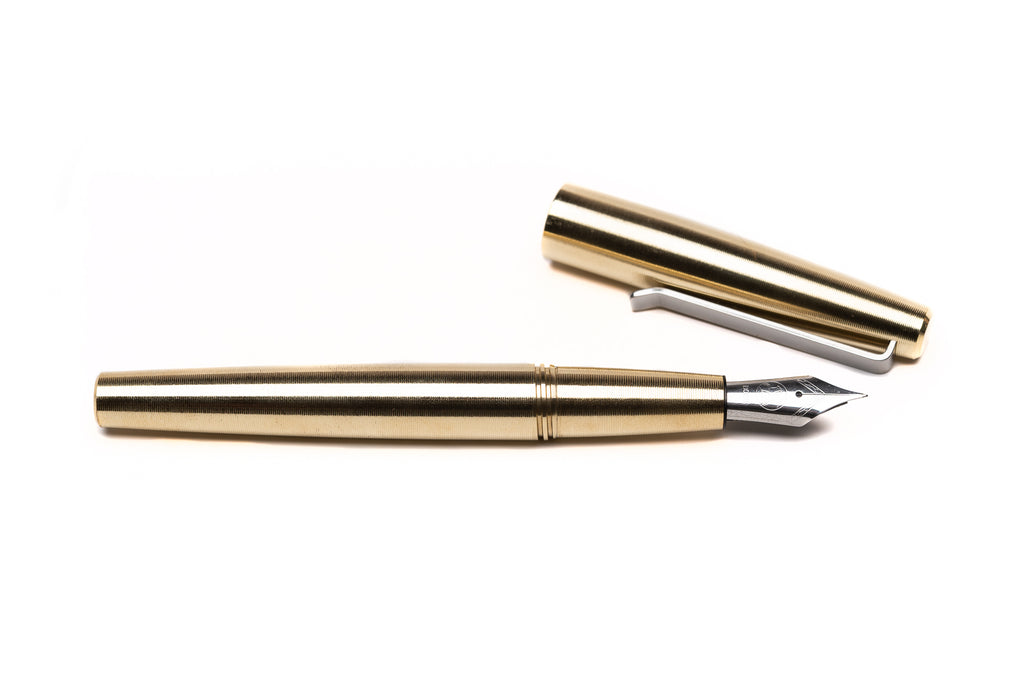 Brass Fountain Pen by Tactile Turn