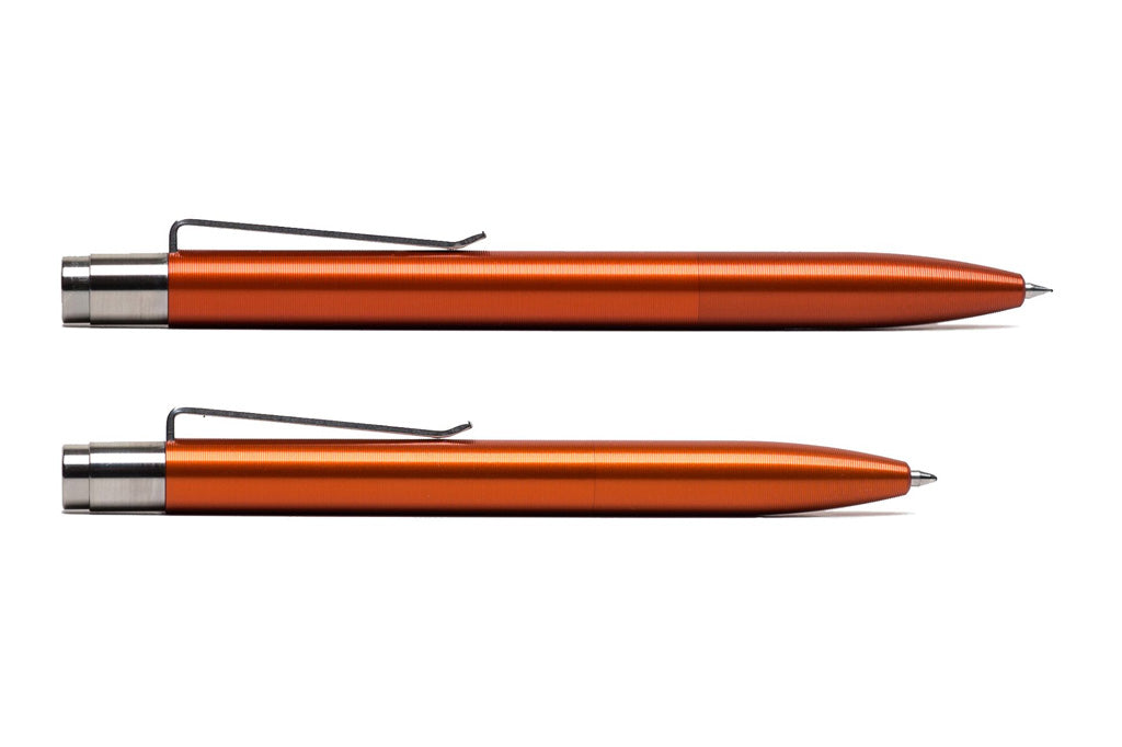 Orange Anodized Aluminum Click Pen