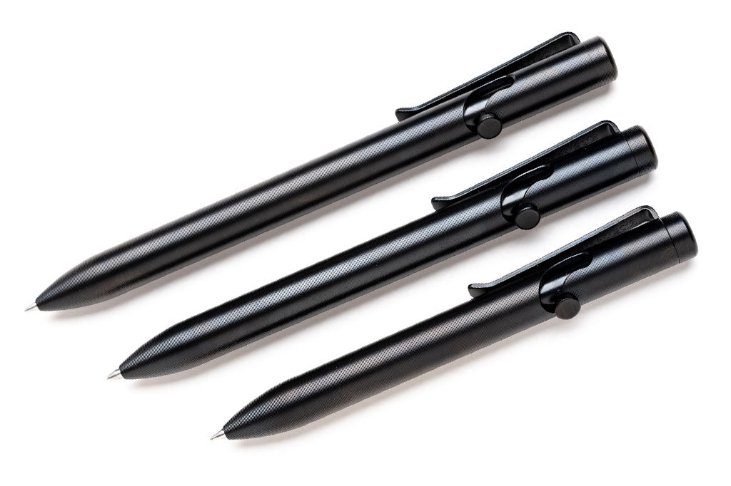 Bead Blasted DLC Titanium Bolt Action Pens