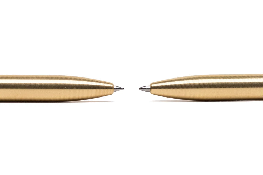 Precision Machined Brass Click Pens by Tactile Turn