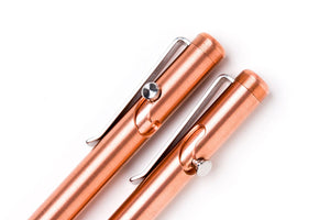Copper Bolt Action Pens by Tactile Turn