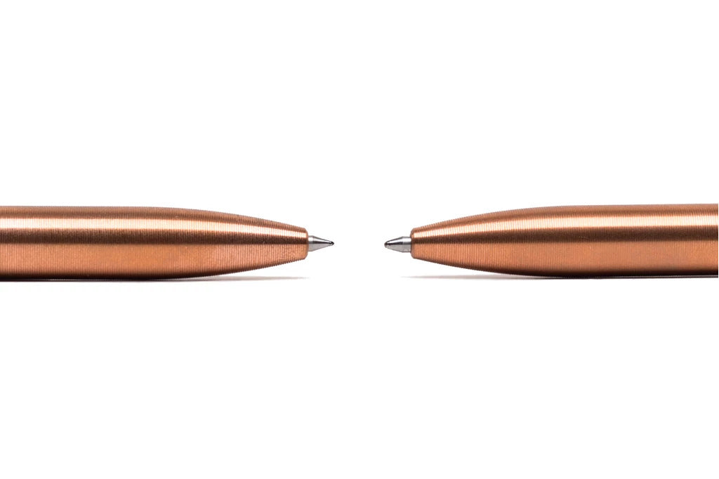 Precision Machined Copper Click Pens