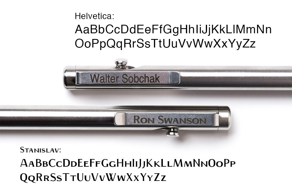 Add Custom Engraving to any Tactile Turn Pen