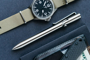 Titanium Bolt Action Pen by Tactile Turn