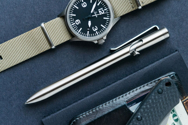 Titanium Bolt Action Pen – Tactile Turn