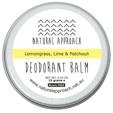15g - Bicarb FREE - Lemongrass, Lime & Patchouli - Natural Deodorant