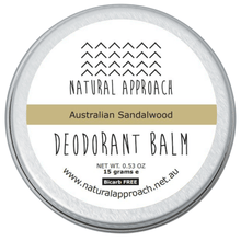 Load image into Gallery viewer, 15g - Bicarb FREE - Australian Sandalwood - Natural Deodorant