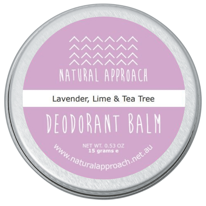 15g - Lavender, Lime & Tea Tree - Natural Deodorant
