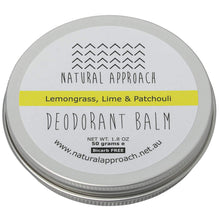 Load image into Gallery viewer, 50g - Bicarb FREE - Lemongrass, Lime & Patchouli Natural Deodorant