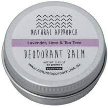 Load image into Gallery viewer, 15g - Bicarb FREE - Lavender, Lime & Tea Tree - Natural Deodorant