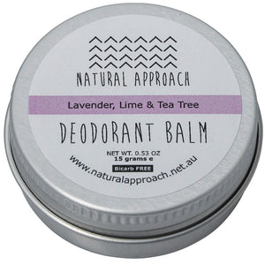 15g - Bicarb FREE - Lavender, Lime & Tea Tree - Natural Deodorant