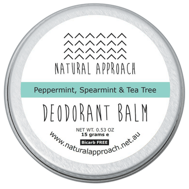 15g - Bicarb FREE - Peppermint, Spearmint & Tea Tree - Natural Deodorant