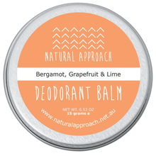 Load image into Gallery viewer, 15g - Bergamot, Grapefruit & Lime - Natural Deodorant