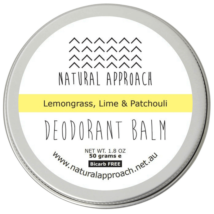 50g - Bicarb FREE - Lemongrass, Lime & Patchouli Natural Deodorant