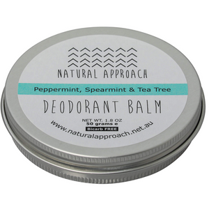 50g - Bicarb FREE - Peppermint, Spearmint & Tea Tree - Natural Deodorant