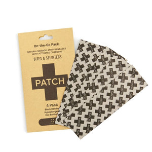PATCH Activated Charcoal Bandages - 'On-The-Go' 4 pack