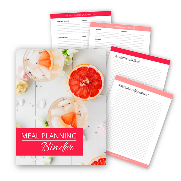 Meal Planning Binder {49 pages}
