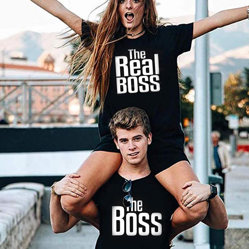 """The Boss"", ""The real Boss"" lustiges T- Shirt - poponuss"