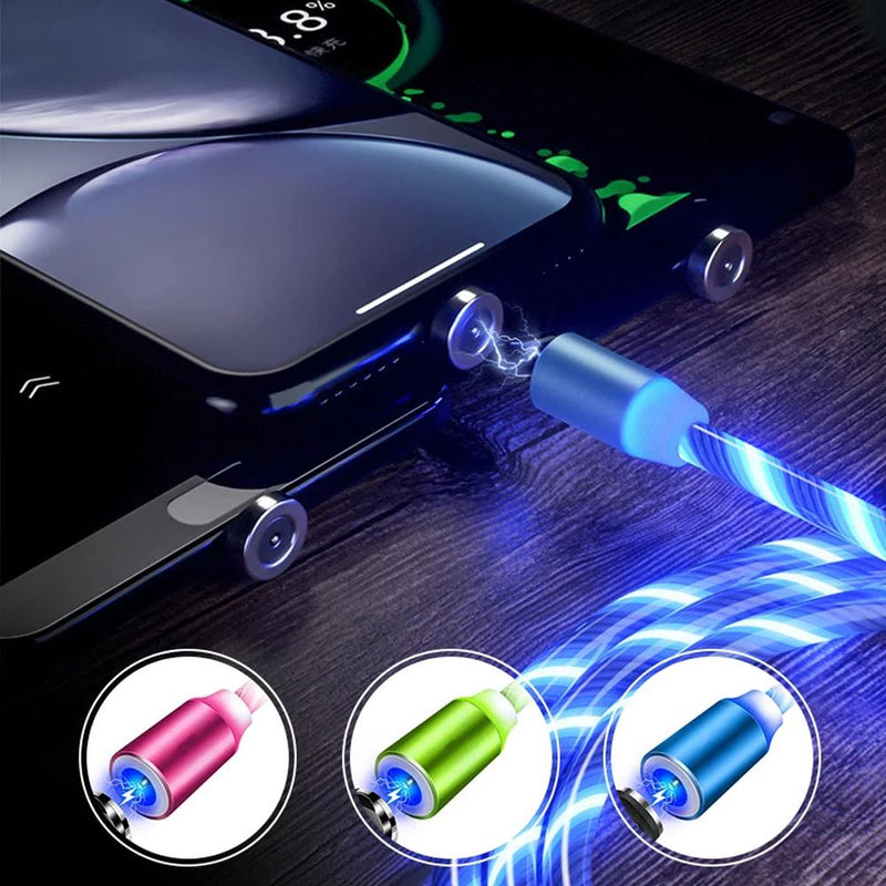 POPONUSS™ LED Magnetic 3 in 1 USB Ladekabel - poponuss