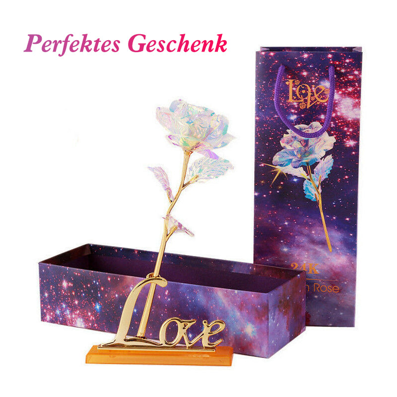 Bunte Galaxy Rose mit Love - poponuss