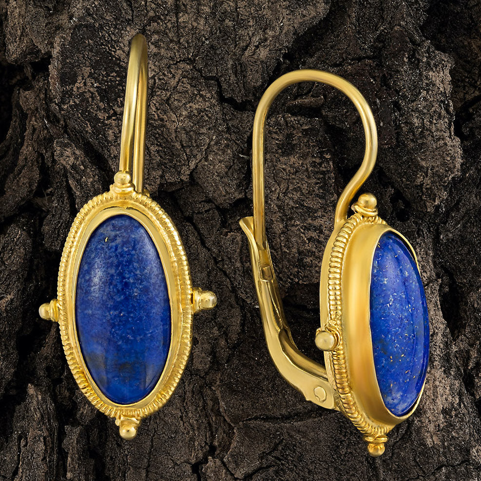 Modern Jewelry: Shown Lewis Carroll Lapis Earrings