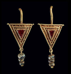 christies auction triangle earrings