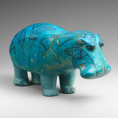 William - Egyptian Faience Hippo at the MET