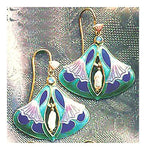 Art nuevou Opal Enamel Earrings Jewelry design from silver jewelry designers