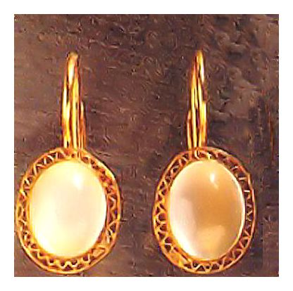 Moonstone Oval Earrings from Victorian Silver Jewelry Designers