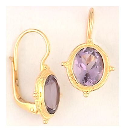 Ode-To-The Amethyst Victorian Earrings, Silver Jewelry Design