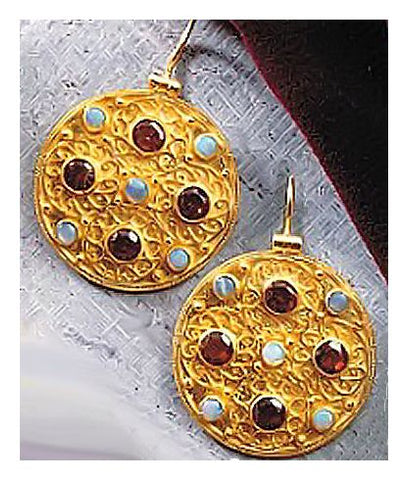Ravenna Garnet & Opal Earrings