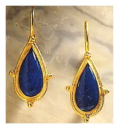 Dorrit Lapis Stone Earrings