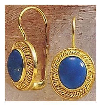 Lammermoor Lapis Victorian Jewelry Design Earrings Gold Over Silver Jewelry