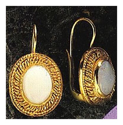 Kensington Opal Victorian Silver Jewelry Design Earrings Gold Over Silver