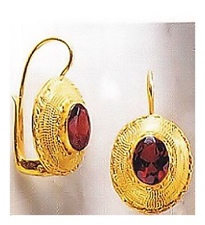 Empire Victorian Garnet Silver Earrings, Our Original Silver Jewelry design