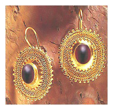 Afghani Garnet Earrings
