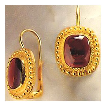 Jodphur Garnet Earrings