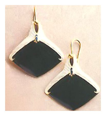 Harlequin Enamel Earrings