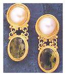 Dover Peridot & Pearl Earrings