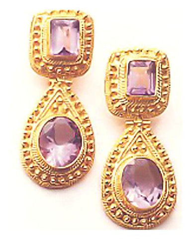 Malabar Amethyst Earrings