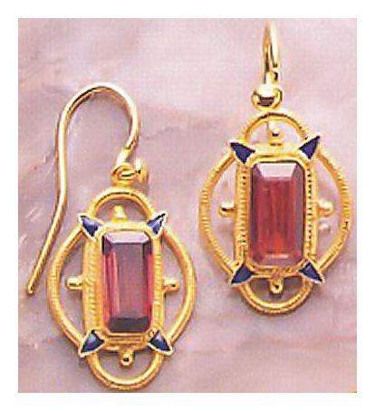 Princess Dashkova Garnet Earrings
