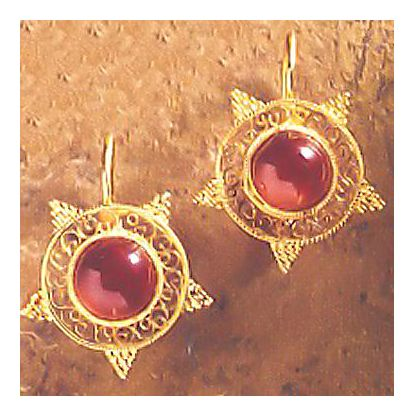 Olympian Garnet Earrings