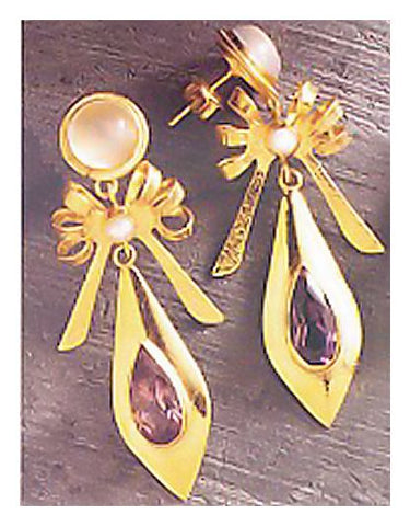 Moonstone Box Graceful Earrings