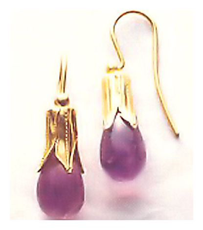 Jane Eyre Amethyst Earrings