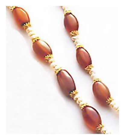 Gwendolyn Carnelian & Pearl Necklace